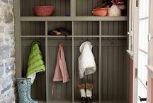 Storage by door