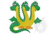 Machine Embroidery Designs. Dragons