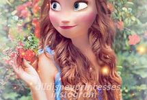 Modern Anna and Elsa and Rapunzel