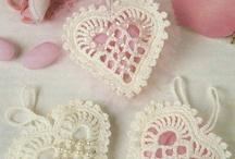 Heart crochet sachets
