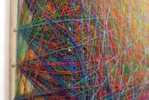 糸アート / 布・コラージュ・彩画など含むミクストメディア作品