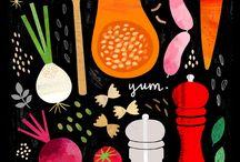 . Ilustração Alimentação