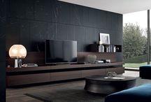 Designer tv wall