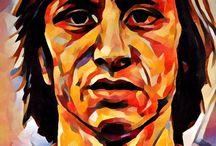Johan Cruyff / Series of paintings of Johan Cruyff