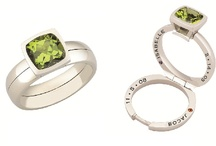 Takohl Treasure Rings / You can commemorate your love, birth, anniversary or sacred thoughts with a custom designed Treasure Ring from Chicago-based Fine Jewelry Designer Tammy Kohl.