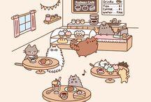 Pusheen / A lovely cute fat/big cat that populer