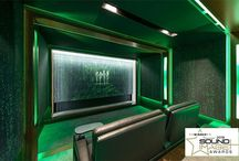 Matrix Cinema / Home theatre and bar in Sydney NSW Australia designed by Wavetrain Cinemas. Seating by Fortress Seating.