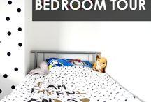 Children's Monochrome Bedroom / Children's Monochrome Bedroom http://www.life-as-mum.co.uk/2016/04/the-girls-monochrome-theme-bedroom-tour.html
