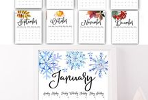 2018 calendar instant download Get organized!
