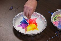 Making Colors Dance-Fun Science experiment with milk, food coloring, and dawn soap. Y