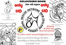 Colouring Book / We have a colouring book for sale to raise funds for our rescue, forty pages of fun for only ten dollars!!!