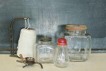 Vintage Bottles Canisters