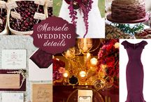 Pantone Color of the Year 2015: Marsala / A great collection of #Marsala #Wedding Details for inspiration and enjoyment by Boston Wedding Planner Donna Kim of The Perfect Details