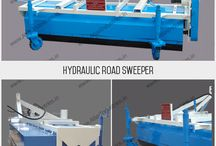 Hydraulic road sweeper / Hydraulic broom comes with 2.1 meter sweeping width. This road cleaning equipment features a dust collection bucket. It is powered by a strong hydraulic motor.
