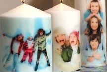 candles with your pics on them