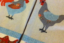 chickens sewing/etc for fun