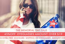 24 Hour Flash sale / 45%OFF eyeglasses amount Over $19, plus extra Free Standard Shipping on eyeglasses amount Over $39.9