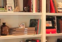 Living with Books / Ideas for decorating with books.
