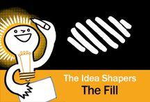 The Idea Shapers: The Fill / In her 2016 book The Idea Shapers, Brandy Agerbeck makes visual thinking attainable and enjoyable through a set of 24 Idea Shapers. The Fill is the seventh visual thinking concept in the third step, CONNECT + CONTAIN.