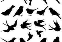 Птичий силуэт