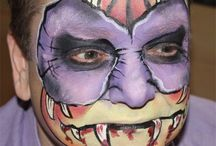 Specially commissioned face painting designs / These face painting designs were one off designs for special occasions or magazine articles.