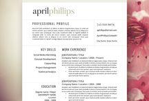 Resume layout idea