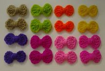 crochet bows and flowers