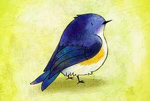 Рисование птичек