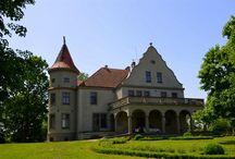 Nawoszyce - Pałac / Pałac w Nowoszycach wzniesiony około 1912 roku przez rodzinę Kollewe. Obecnie jest własnością prywatną.  Palace in Nowoszyce erected about 1912 by the Kollewe family. At present he is a private property.
