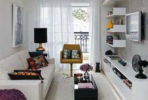 Narrow Living Room / wąski salon