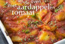Kabeljouw en tomaat