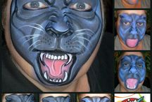 School face paint / Black panther