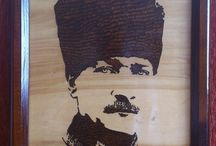 AHŞAP YAKMA - PYROGRAPHY / WOODEN, PYROGRAPHY