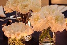 flores blancas. centros de mesa