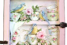 Birds and Flower Art