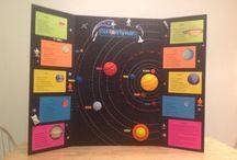 Rummet / Undervisningsmaterialer og ideer til solsystemet, galakser, stjerner mv.