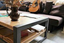 Mobilier / objet / Sur la base d'une inspiration industrielle et scandinave, le mélange du bois et du métal offre des possibilités infinies d'objet et de mobilier.