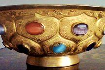 Tang Dynasty Gold Bowl & Ewer / Gold Bowl & Ewer, Tang dynasty China