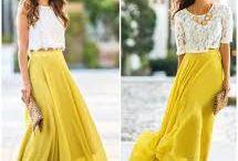 Blusa y Faldas Largas