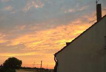 #sky #clouds Leuchtende Wolken ☁️