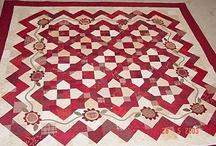 Quilts Rojo y Blanco