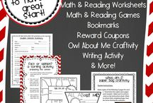 Back to School / Ideas about how to start your school year off on the right foot!