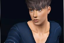 Coiffures homme - Sims 3