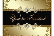black tie christmas party silver invite