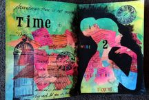 My Creative Momentz / Art Journal pages, Mixed media, Creative play by me