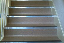 Gospel Oak Church / Client: Private residence in North London. Brief: To install Crucial Trading Mississipi Stripe 100% Wool Carpet to stairs and landings. The solution: Stairs were templated during first visit, removed to works for whipped edges, and runner installed on final visit.