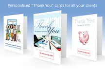 Thank You cards for Accountants / Sending greetings cards to your clients builds customer loyalty and increases customer referrals