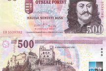 Billets Hongrie / Les billets de banque Hongrie en circulation sont : 500, 1000, 2000, 5000, 10 000, 20 000 Forint.  Les billets en circulation ont tous un hologramme (sauf le 500), ceux qui n'en ont pas sont retirés de la circulation et donc plus échangeables.