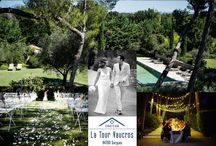 Wedding in Provence at  Chateau La Tour Vaucros / wedding venue in Provence, ceremony, cocktail, diner and brunch