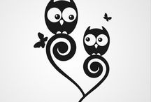 Silhouette - Owls